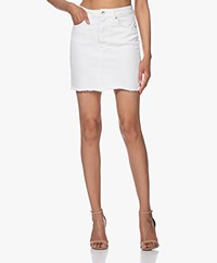 IRO Sienne Distressed Denim Mini Skirt - Off-white