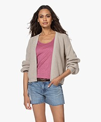 by-bar Bar Short Cotton Rib Cardigan - Linen