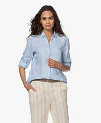 Josephine & Co Bern Linen Shirt - Light Blue