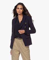 Woman By Earn Inez Double Breasted Blazer - Navy