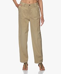 ba&sh Paige Tencel Loose-fit Chinos - Khaki