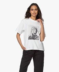 ANINE BING Ida Terrry O'Neill T-shirt - White