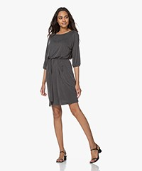 no man's land Cupro Jersey Dress - Anthracite