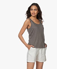 Filippa K Haven Linen Tank Top - Green Grey