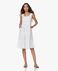 indi & cold Voile Tiered Dress - Off-white