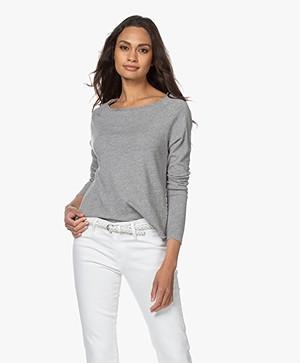 American Vintage Sonoma Slub Sweatshirt - Grijs Mêlee