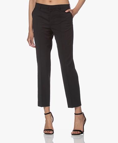 Filippa K Emma Cropped Cool Wool Pants - Black