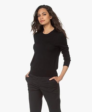 Filippa K  Merino R-neck Sweater - Black