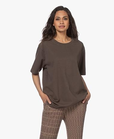By Malene Birger Fayeh Organic Cotton T-Shirt - Dark Mink