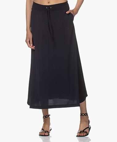 JapanTKY Ruby Travel Jersey A-line Skirt - Black Blue