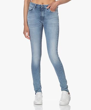 Denham Needle High Skinny Jeans - Middenblauw