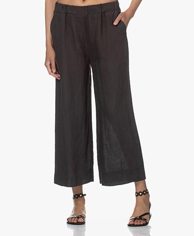 by-bar Ines Linen Loose-fit Pants - Jet Black