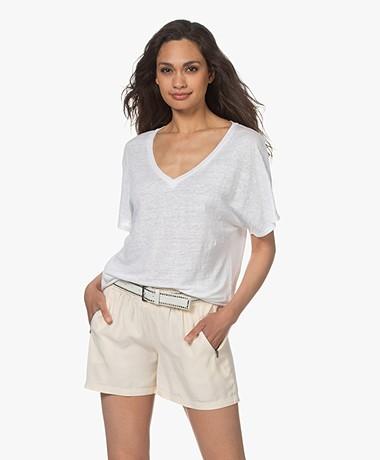 Josephine & Co Lette Linnen T-shirt - Wit