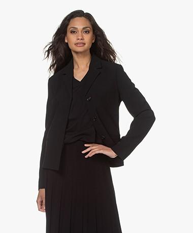 Filippa K Maylene Duurzame Getailleerde Blazer - Zwart