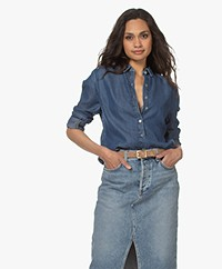 Plein Publique La Sezanne Lyocell Denim Blouse - Jeansblauw
