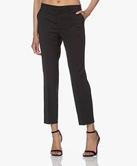 Filippa K Emma Cropped Cool Wool Pantalon - Zwart
