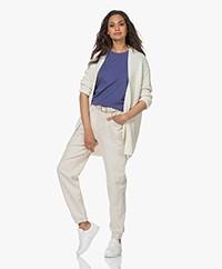 Sibin/Linnebjerg Amalia Merino Blend Open Cardigan - Off-white