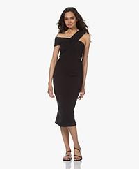 IRO Bronte Ribbed Jersey Midi Dress - Black