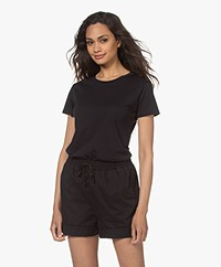 Filippa K Katoenen R-hals T-shirt - Zwart