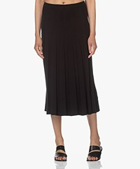 Filippa K Ruby Knitted Viscose Blend Skirt - Black
