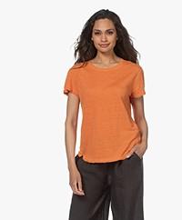 FRAME Easy True Linnen T-shirt - Tangerine