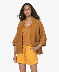 indi & cold Oversized Linnen Kimono Blazer - Ambar