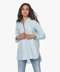 indi & cold Katoenen Poplin Overhemd - Azul
