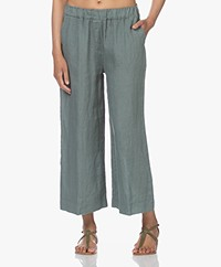 by-bar Ines Linen Loose-fit Pants - Smoke Blue
