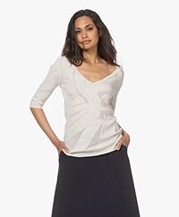LaSalle Seamless Mesh Sweater - Natural