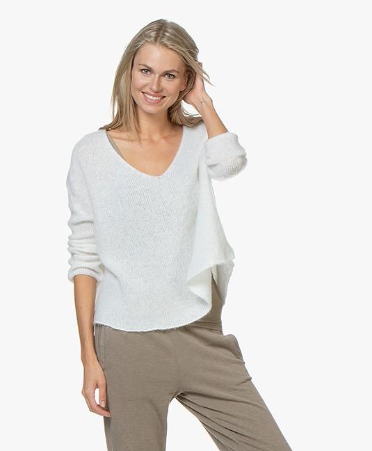 American Vintage Vapcloud Mohair Blend Sweater - White