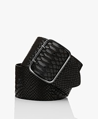 Drykorn Freya Leather Waist Belt - Black