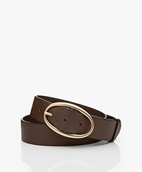 Vanessa Bruno Leather Belt - Chocolat