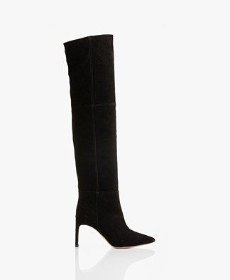 ba&sh Cilipa Suede Over-the-knee Boots - Black