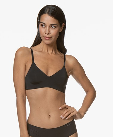 Calvin Klein Form Unlined Triangle Bra - Black