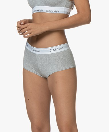 Calvin Klein Modern Cotton Shorts - Grey/White