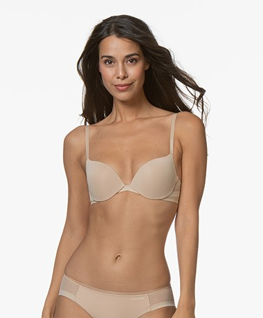 Calvin Klein Sculpted Plunge Push-up BH -  Bare