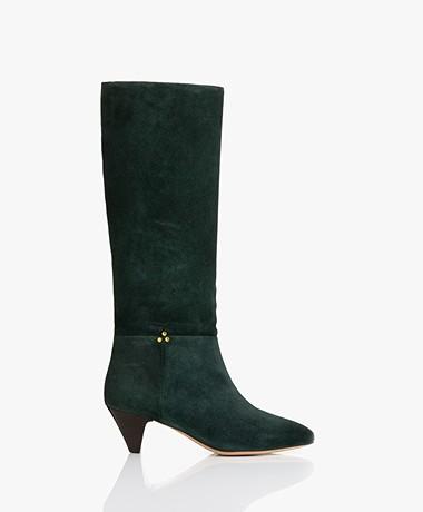 Jerome Dreyfuss Sandie50 Suede Boots - Petrol Green