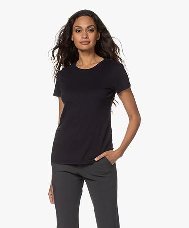 Majestic Filatures Jamie Deluxe Cotton T-shirt - Marine