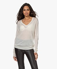 Joseph Cashair Pure Cashmere V-neck Sweater - Ivory