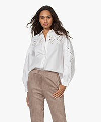 Rails Alister Broderie Anglaise Blouse - White