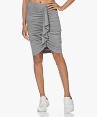 IRO Alexy Modal Jersey Skirt - Mixed Grey