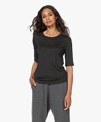 Filippa K Elena Tencel Elbow-length Sleeve T-shirt - Dark Spruce
