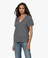 IRO Gosta V-neck T-shirt - Mixed Grey