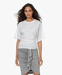 IRO Holla Cotton T-shirt with Kimono Sleeves - White