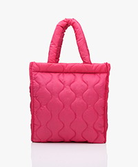 KYRA Puffer Quilted Shopper - Fluo Pink