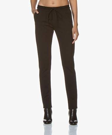 studio .ruig Bries Thick Jersey Broek - Zwart