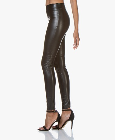 Wolford Estella Faux Leather Leggings - Black