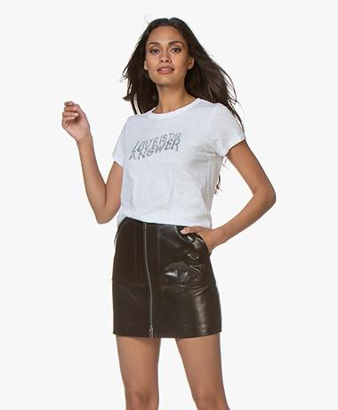 Rag & Bone Love Print T-shirt - Wit