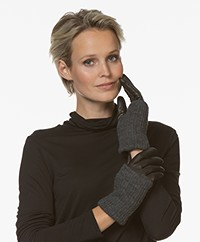 Filippa K Women Short Wool Rib Gloves - Black