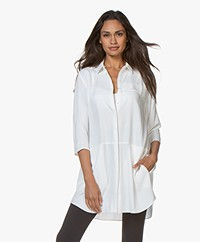 studio .ruig Oos Long Viscose Blouse - Off-white